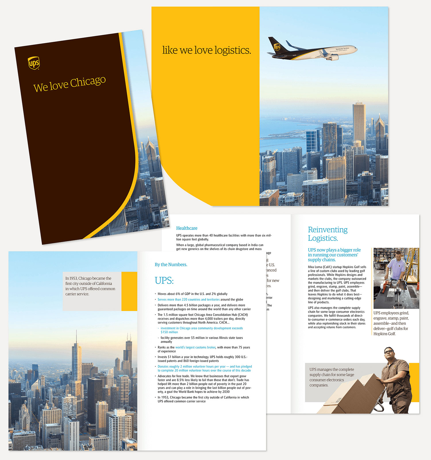 UPS Case Study: Brochures, Infographics & Flyers with Design